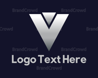 Bus Company - Silver Letter V logo design