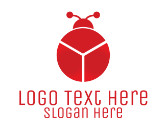 Red Chart Bug Logo