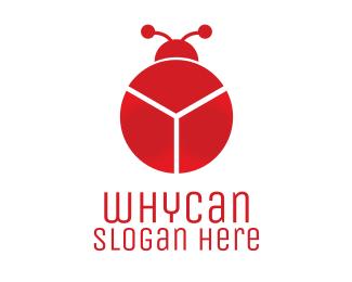 Bug Red Chart Bug logo design