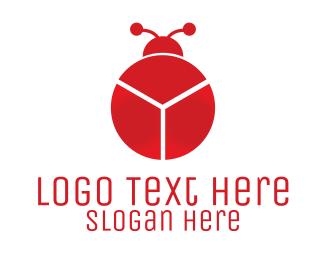 Fintech - Red Chart Bug logo design