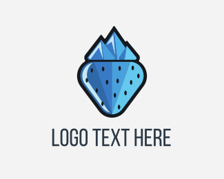 Peak - Frozen Berry logo design