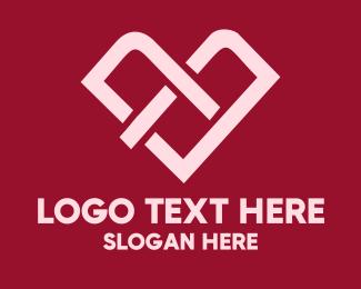 Link - Heart Love Link logo design