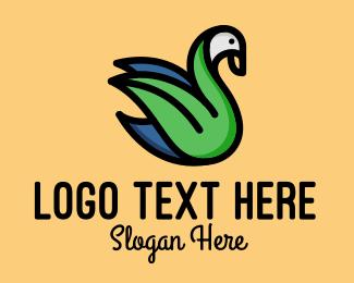 Flying - Flying Swan logo design