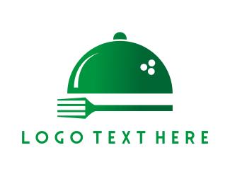 Cater - Fork & Tray logo design