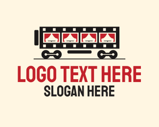 Rail - Film Strip Train  logo design