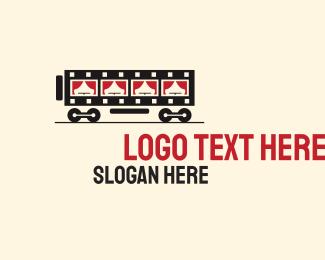 Film - Film Strip Train logo design