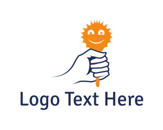 Lollipop - Sun Toy logo design