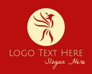 Legendary - Red Phoenix Emblem logo design
