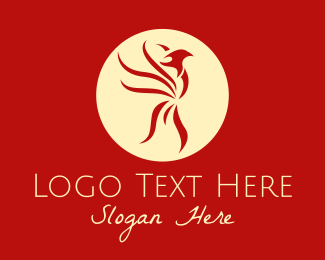 Legend - Red Phoenix Emblem logo design