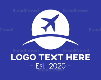 Travel Agent - Globle & Plane logo design