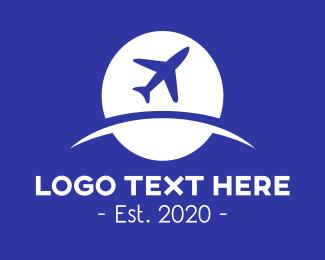 World - Globle & Plane logo design