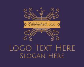 Elegant Cocktail Bar & Restaurant Logo