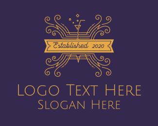 Bar - Elegant Cocktail Bar & Restaurant logo design