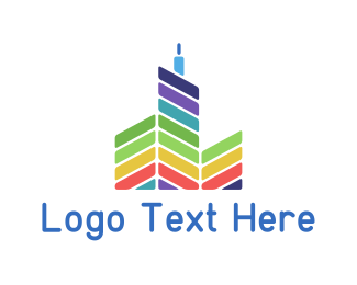 Brisbane - Colorful Buildings logo design