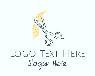 Hair Salon - Hair Haircut Salon logo design