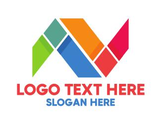 Shattered -  Mosaic N logo design