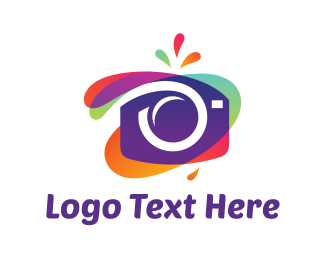 Art - Colorful Abstract Camera logo design