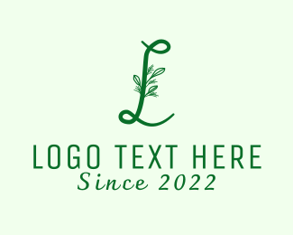 Wedding Planner - Natural Elegant Letter L logo design