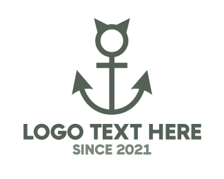 Water - Devil Anchor logo design