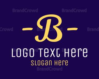 Letter B - Retro Letter B logo design