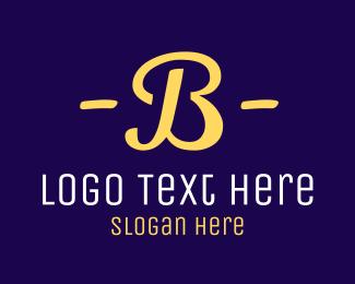 50s - Retro Letter B logo design