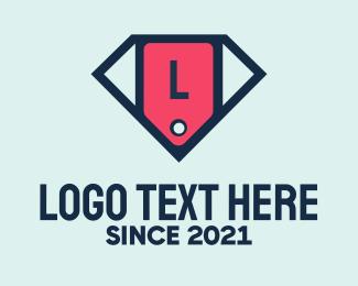 Price - Diamond Price Tag Lettermark logo design