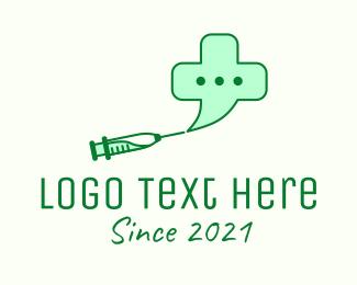 Chat Bubble - Medicinal Vaccine Chat  logo design