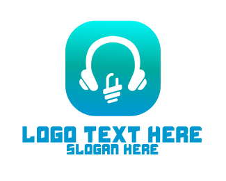 High Tech - Tech Headphone App logo design