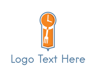 Timeless - Food Time Grandfather Clock logo design