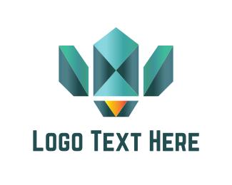 Gem - Diamond Bird logo design