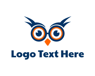 Spectacles - Nerd Owl logo design