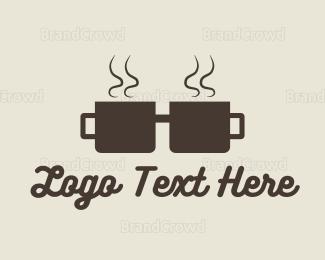 3d - Coffee Cup Geek logo design