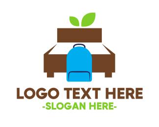 Backpack - Backpacker Hostel logo design