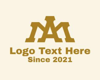 Hospitality - A & M Monogram Crown logo design