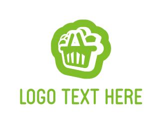 Supermarket - Citrus Shopping Cart logo design