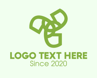 Wind Energy - Green Abstract Pattern logo design