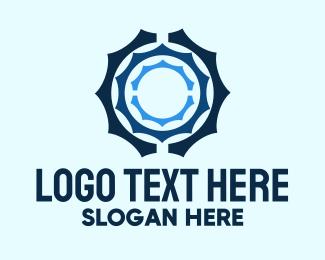 Engine Parts - Blue Electronic Mechanic logo design