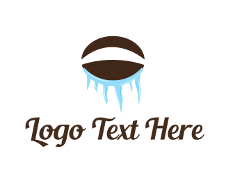 Iced Coffee - Ice Coffee Bean logo design