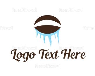 Ice - Ice Coffee Bean logo design