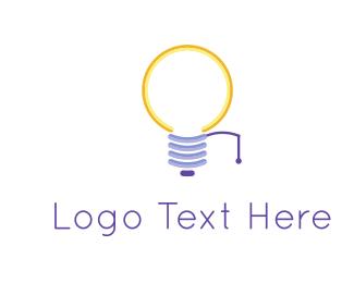 Bulb - Yellow Bulb logo design