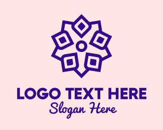 Yoga Center - Flower Petals Shop logo design