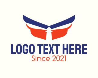 Guide - Winged Lighthouse logo design