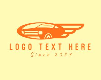 Vintage Car - Orange Vintage Car logo design