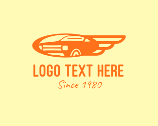 Luxury Car - Orange Vintage Car logo design