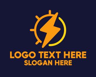 Flash - Solar Energy Electric logo design