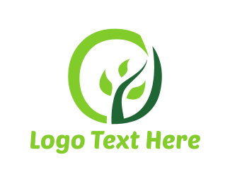 Twig - Tree Circle logo design