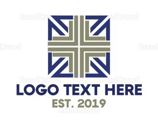 Chapel - Modern Square Cross logo design