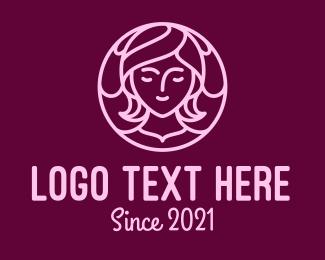 Feminist - Minimalist Teenage Girl logo design
