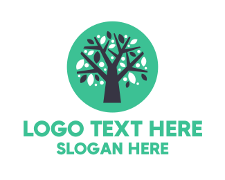 Reusable - Blue Green Tree  logo design