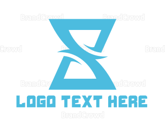 Hourglass - Letter S Hourglass logo design